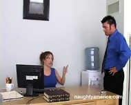 Christina Brooks gets fucked in the office